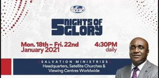 5 nights of glory 2021 5 nights of glory message