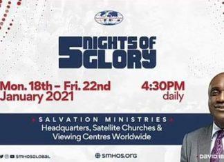 5 nights of glory 2021 5 nights of glory message